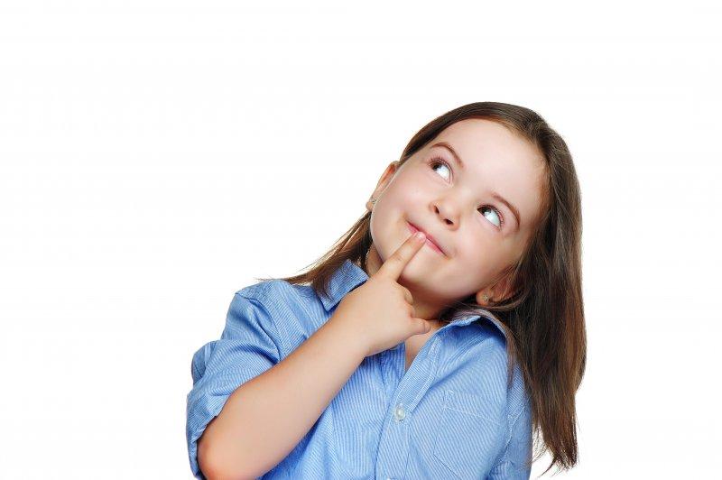 Closeup of child wondering